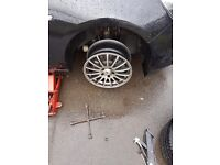 17 inch AEZ alloys with tyres 5x115