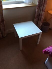 Small white table, £10