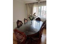 Beautiful Antique Styled Victorian Dining Table and chairs