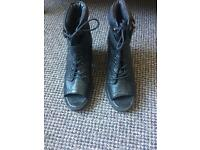 Topshop genuine leather boots 5