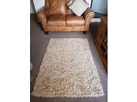 Cream/mocha rug