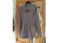 Women's Grey Size 12 (100% Real Leather) Original 80's Retro/Hipster Jacket. EX!