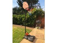 Outdoor basketball and hoop