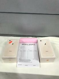 IPhone 8 256GB Gold boxed with Apple warranty.