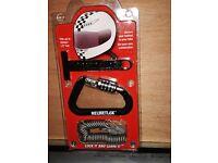HELMETLOK New and unused - to secure helmets to motorcycle