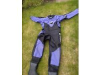 Typhoon ladies membrane drysuit size 12