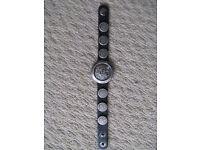 New Diesel genuine leather bracelet black.