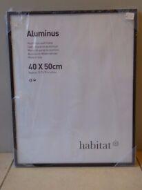 New Habitat Aluminus Black Aluminium Picture Frame - 3 Available