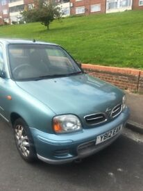 Nissan Micra, 12 month MOT, good condition.