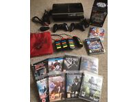 MASSIVE BUNDLE - RARE PS3 60GB Console + 2 Controllers + Buzz Bundle + 10 Playstation 3 Games