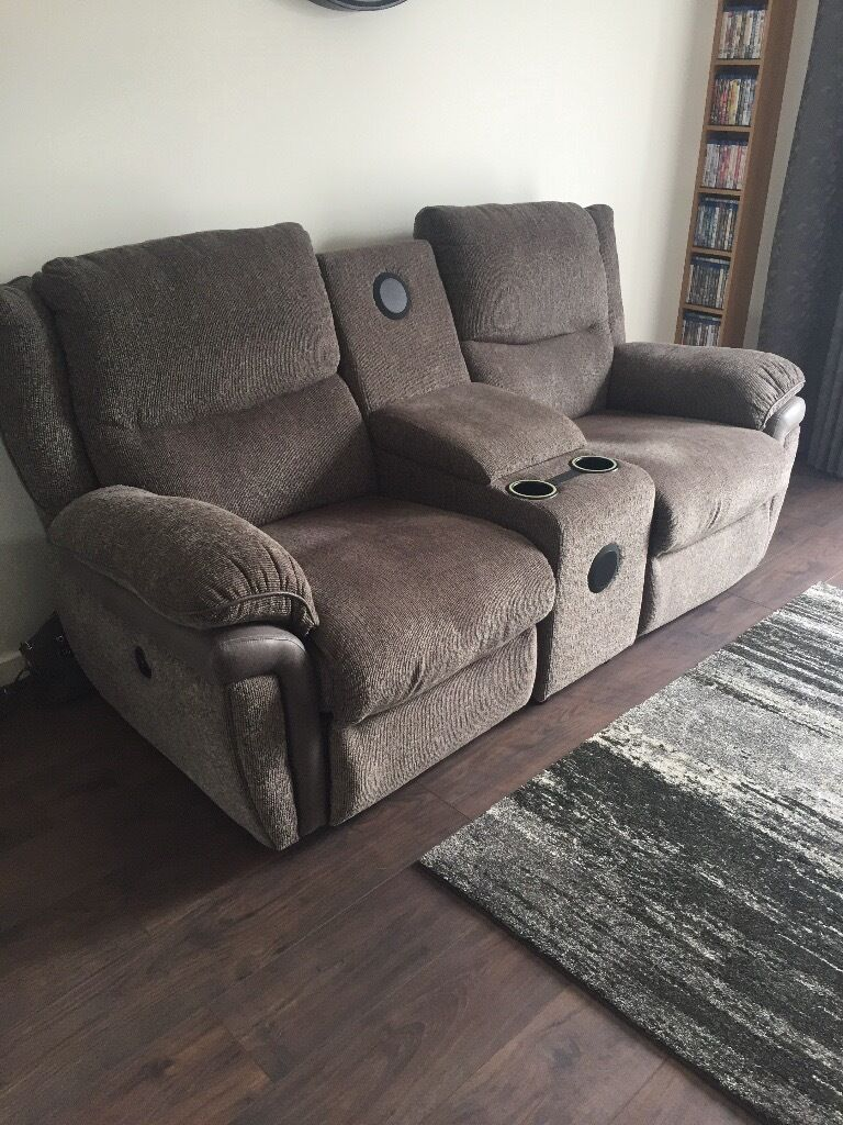 La Z Boy 2 Seater Recliner Bluetooth Speaker Sofa In