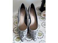 Charcoal heels size 4
