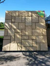 CATHEDRAL PATIO PAVING FEATURE KIT COVERS 2.7M X 2.7M ONLY £219.99 EACH