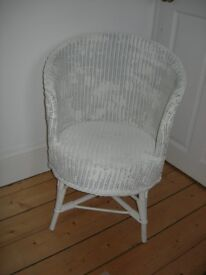 Wicker chair - painted off-white