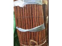5m rolls of 2m high willow fence screening