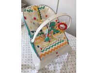 BRAND NEW FISHER PRICE CARNIVAL CURVE COMFORT BABY BOUNCER