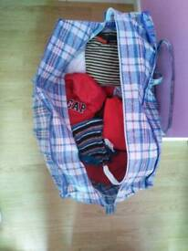Large bag of baby boy clothes