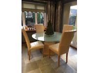 Barker and Stonehouse Dining Table and 4 Chairs