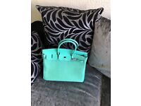 designer mint green bag
