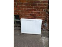 2 radiators 1 double panel 600 (H) x 800 (L) and 1 single panel 500 (H) x 700 (L)