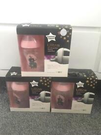 Tommee tippee pink bottles