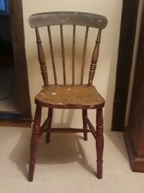 Antique, spindle back chair