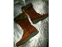 As new Ladies leather boots size 5
