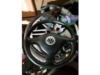 Mk4 golf gti 3 spoke leather steering wheel