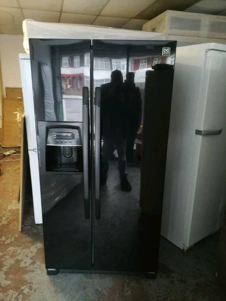 Daewoo American black with water dispenser fridge freezer | in ...