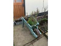 Free Wheelbarrow planter (upcycle project) TAKEN