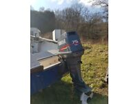 Shetland 535. 18ft fishing boat extended roof , Yamaha 75hp outboard engine