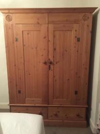 Victorian pine wardrobe