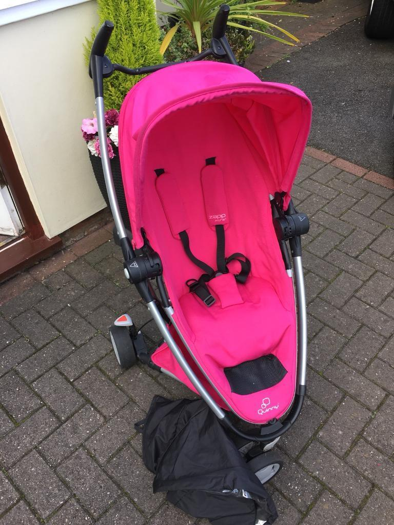 quinny zapp xtra 2 pink passion pushchair pram in. Black Bedroom Furniture Sets. Home Design Ideas