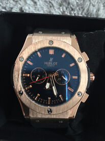 Hublot Big Bang Gold, Automatic Watch, Rubber Strap *1st Class Postage Available*