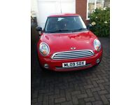 MINI ONE 2009 09 REG IN METALLIC PAINT WITH 1 PREVIOUS OWNER SINCE NEW AND FULL SERVICE HISTORY