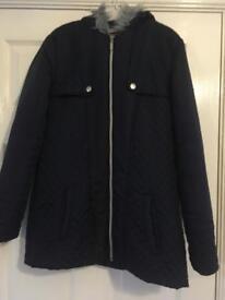 Navy Girls coat Age 10