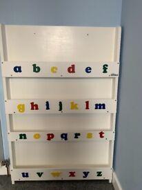 White Tidy books children's bookcase