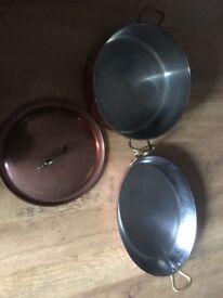 copper pot & copper dish