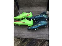 Nike boots size 8 and 9
