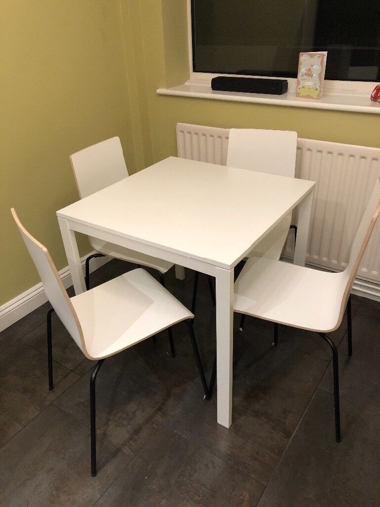Square Dining Table And 4 Chairs Ikea Nearly New In Berkhamsted