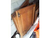 Solid Reclaimed Oak door with some handles.