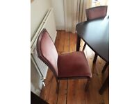 Rosewood/Mahogany Ulferts Dining Room Table and 6 Chairs