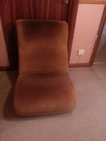 All in one 'sofa' chair. Brown Chord.