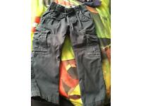 Boys navy combat trousers