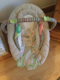 Vibrating musical baby bouncy chair