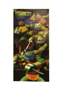 "Nickelodeon Teenage Mutant Ninja Turtles Kids Beach Towel - 28"" x 58"" Cotton Bath Towel"