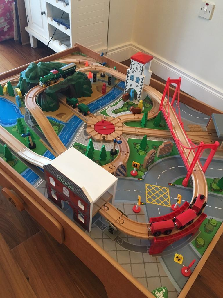 ELC Wooden Train Track Set Table | in Hillsborough, County Down ...