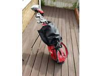 Mizuno golf clubs, bag & trolley