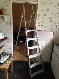 Reduced price! Semi-new aluminium long foldable step ladder for sale