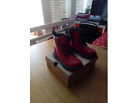 Real Dr Martens - Delaney - RED - ROUGE - UK 1